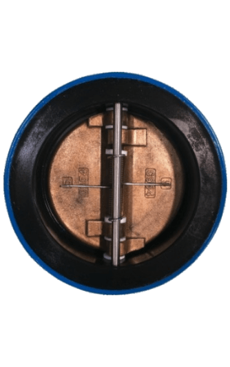 Full rubberlined Wafer type Double door Check Valve